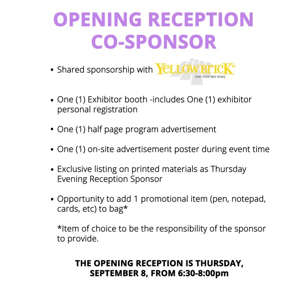 Opening reception co-sponsor